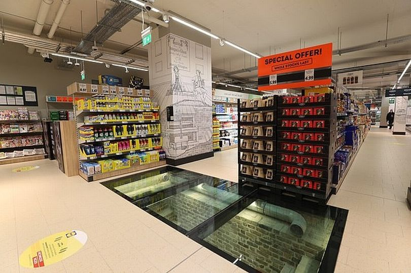Lidl store builds glass floor to showcase 11th century Viking ruins